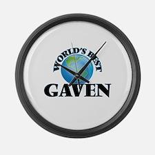 World's Best Gaven Large Wall Clock