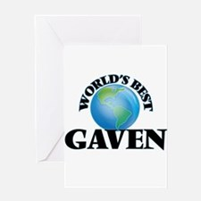 World's Best Gaven Greeting Cards