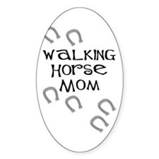 Walking Horse Mom Oval Decal