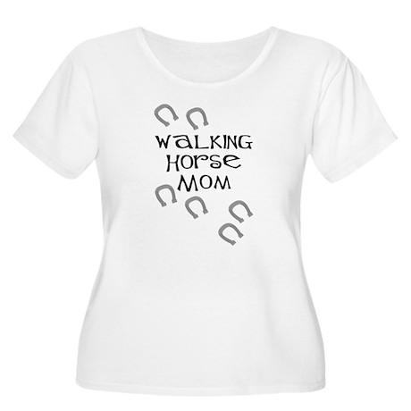 Walking Horse Mom Women's Plus Size Scoop Neck T-S