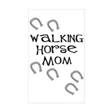 Walking Horse Mom Rectangle Decal
