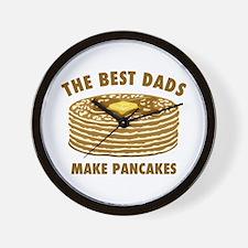 Best Dads Make Pancakes Wall Clock