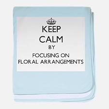 Keep Calm by focusing on Floral Arran baby blanket