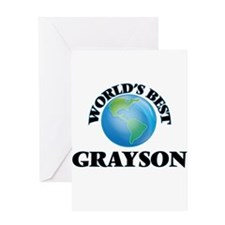 World's Best Grayson Greeting Cards