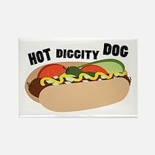 Hot Diggity Dog Magnets