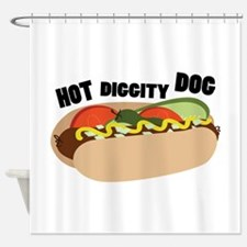 Hot Diggity Dog Shower Curtain