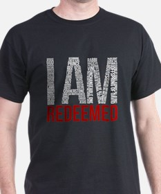 I Am Redeemed - Black/Red T-Shirt