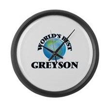 World's Best Greyson Large Wall Clock