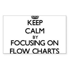 Keep Calm by focusing on Flow Charts Decal