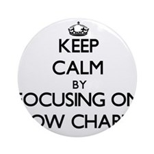 Keep Calm by focusing on Flow Cha Ornament (Round)