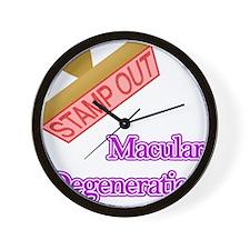 Macular Degeneration Wall Clock