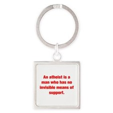 An atheist is a man who has no invisible means of