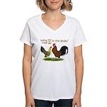 Dutch Bantam Time! Women's V-Neck T-Shirt