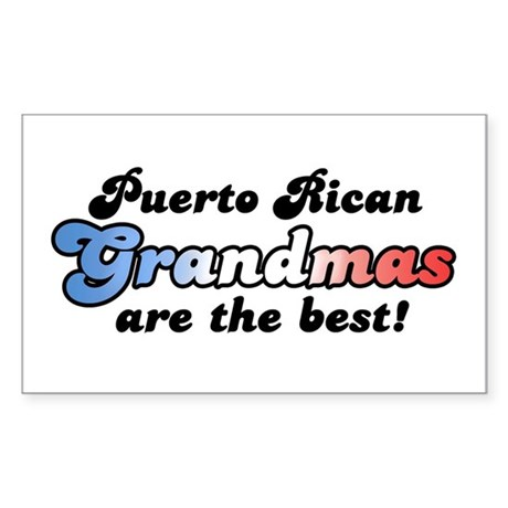 Puerto Rican Grandma Rectangle Sticker