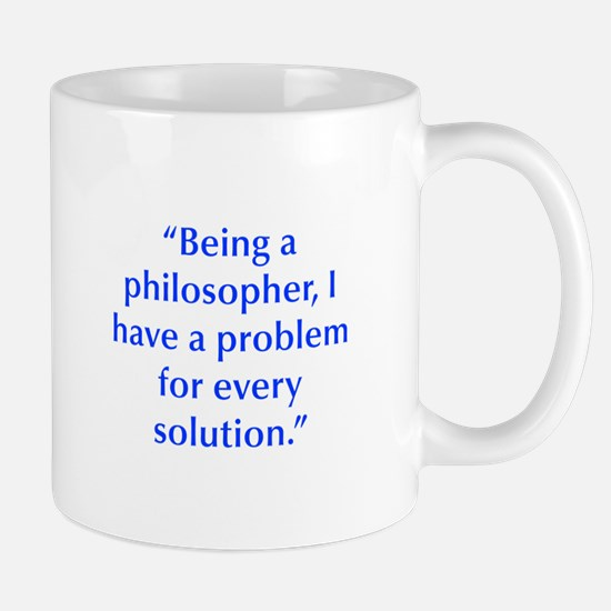 Being a philosopher I have a problem for every sol