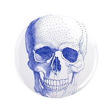"Blue skull 3.5"" Button"