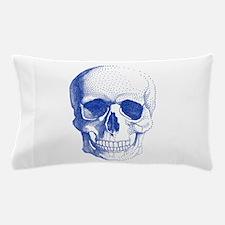 Blue skull Pillow Case