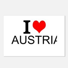 I Love Austria Postcards (Package of 8)