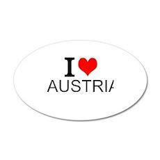 I Love Austria Wall Decal