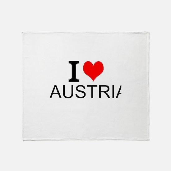 I Love Austria Throw Blanket