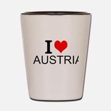 I Love Austria Shot Glass