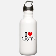 I Love Austria Water Bottle