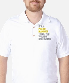 Project Manager Thing Golf Shirt