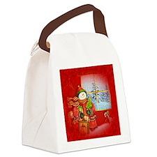 Snowman Days Canvas Lunch Bag