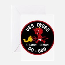 DD-880 A USS DYESS Destroyer Ship M Greeting Cards