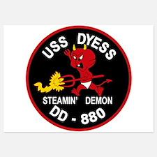 DD-880 A USS DYESS Destroyer Ship Mili Invitations
