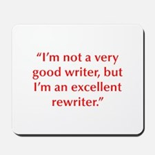 I m not a very good writer but I m an excellent re