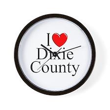 """I Love Dixie County"""""""" Wall Clock"""