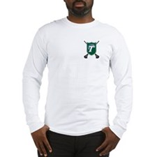 Tulane Lacrosse Shield Long Sleeve Tee (White/Gray