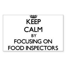 Keep Calm by focusing on Food Inspectors Decal