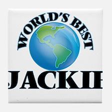World's Best Jackie Tile Coaster