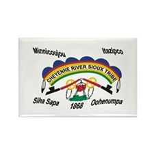 Cheyenne River Sioux Flag 2 Rectangle Magnet (100
