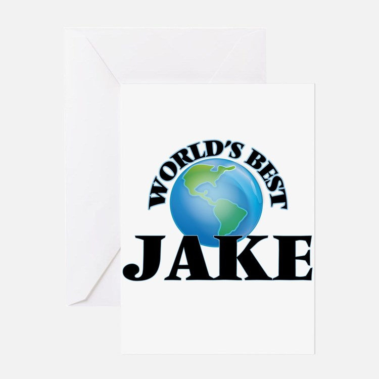 World's Best Jake Greeting Cards