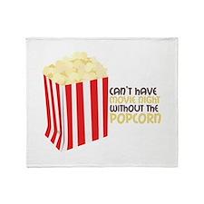 Movie Popcorn Throw Blanket