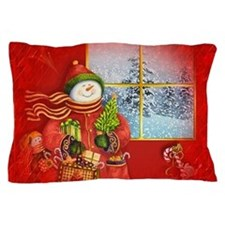 Snowman Days Pillow Case