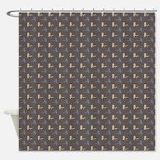 Yellow and Gray Fishing Lure Pattern Shower Curtai