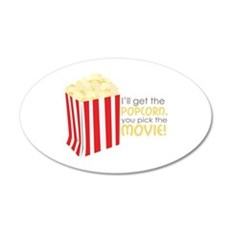 Get The Popcorn Wall Decal