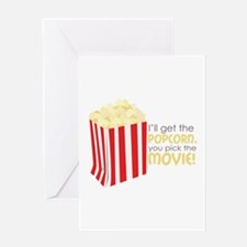 Get The Popcorn Greeting Cards