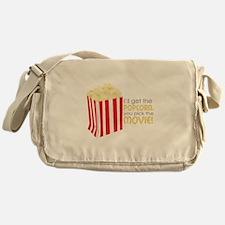 Get The Popcorn Messenger Bag