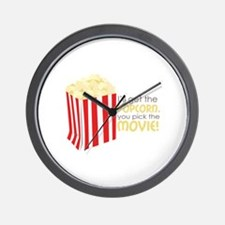 Get The Popcorn Wall Clock