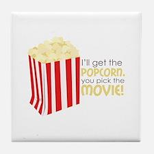 Get The Popcorn Tile Coaster