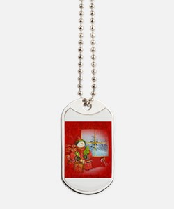 Snowman Days Dog Tags