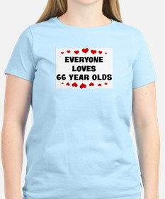 Everyone Loves 66 Year Olds T-Shirt
