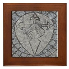 Sarria Waymarker-Image Only Framed Tile
