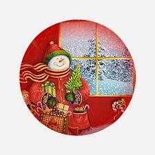 """Snowman Days 3.5"""" Button (100 pack)"""