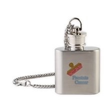 Prostate Cancer Flask Necklace